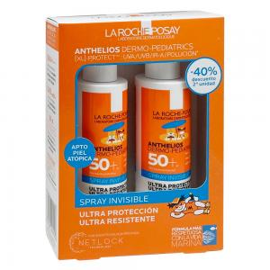 Duplo La Roche Posay Anthelios Dermopediatrics Spray Invisible Niños SPF50+ 2x200ml