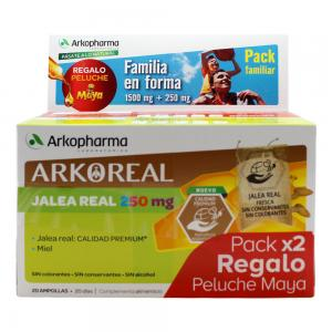 Arkopharma Pack Familiar Jalea Real 1500mg + 250mg 2x20 ampollas