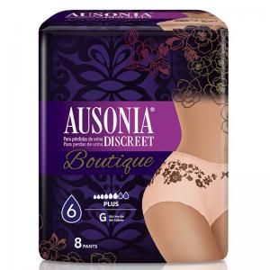 Ausonia Discreet Incontinencia Boutique 8 Pants Talla G