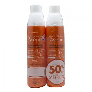 Avene Duplo Solar Spray SPF50+ Piel Sensible 200ml (2x200ml)