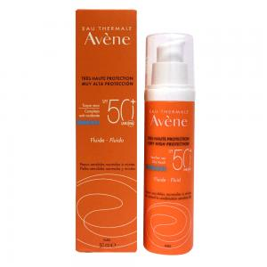 Avene Solar Fluido Toque Seco SPF50+ Piel Sensible, Normal y Mixta 50ml