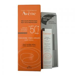 Avene Pack Solar Crema Facial SPF50+ con Color Piel Sensible 50ml + Mini Máscara de Regalo
