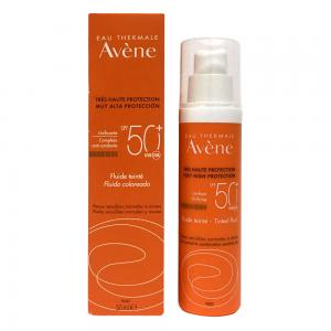 Avene Solar Fluido con Color SPF50+ Piel Sensible, Normal y Mixta 50ml