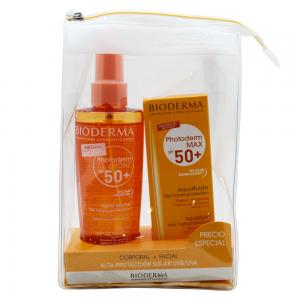 Pack Bioderma Photoderm Bronz Aceite SPF50 200ml + AquaFluide Incoloro Facial SPF50 40ml
