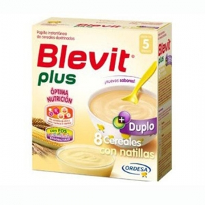 Blevit Plus Duplo 8 Cereales+Natillas 600 gr.