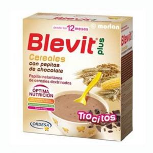 Blevit Plus Trocitos Cereales y Pepitas de Chocolate 600 gr.