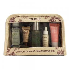 Caudalie Neceser French Beauty Secret (Agua Micelar Desmaquillante 30ml + Premier Cru Contorno de Ojos 5ml + Agua de Belleza 30ml + Vinoperfect Sérum 10ml + Vinosource Crema Sorbete 15ml)