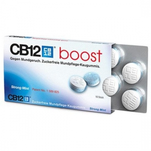 CB12 boost chicles sin azucar 10 comprimidos