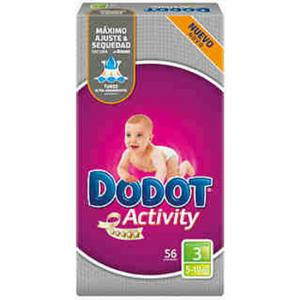 Dodot Activity Talla 3 ( 3 a 10 kg ) 56 unidades