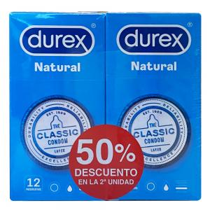 Duplo Durex Natural Plus 2x12 unidades
