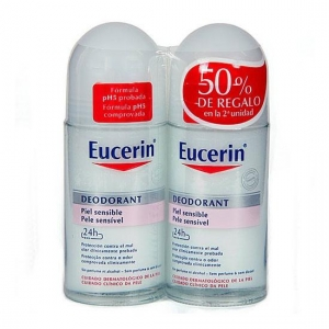 Eucerin Duplo Desodorante Piel sensible Roll on 50ml+50ml