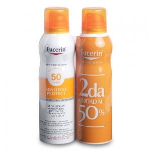 Duplo Eucerin Sun Spray Transparente Toque Seco SPF50 2x200ml