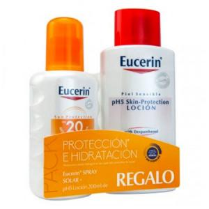 Eucerin Pack Spray Solar SPF20 200ml + PH5 Skin-Protection Loción 200ml