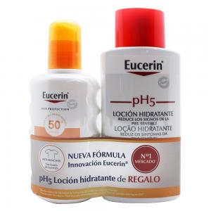 Eucerin pack spray solar SPF50,200ml+ph5 skin-protection locion 200ml
