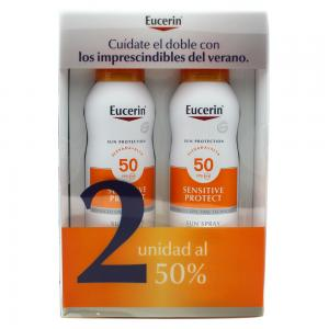 Eucerin Pack Sun Spray Transparente Toque Seco SPF50 2x200ml