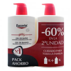 Duplo Eucerin pH5 Gel de Baño Piel Sensible 2x1000ml