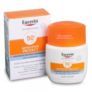 Eucerin Sun Sensitive Protect Fluido Solar Facial Matificante SPF50+ 50ml