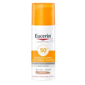 Eucerin Sun CC Crema con Color Photoaging Control Tono Medio SPF50+ 50ml