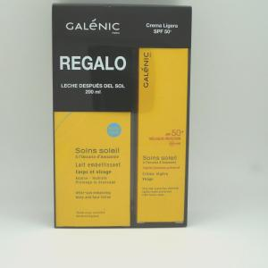 Galenic pack Crema Solar Ligera spf50,40ml + regalo leche despues del sol 200ml