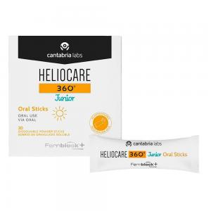 Heliocare 360º Junior Oral Sticks 20 Sobres de 1gr