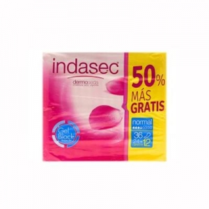 Indasec Normal Compresas 24 Unidades + 12 Gratis