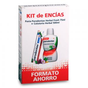 Kit Parodontax Colutorio Bucal Herbal 500ml + Pasta Dental Herbal Fresh 75ml