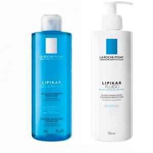 La Roche Posay Pack Lipikar Familiar gel 750ml + fluido 750ml