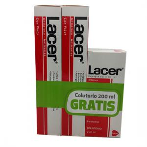 Lacer Kit Pasta Dental 125ml (2 unidades) + Colutorio 200ml Gratis