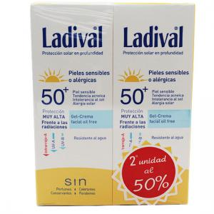 Ladival Duplo Facial Gel-Crema Oil Free SPF50+ 2x75ml
