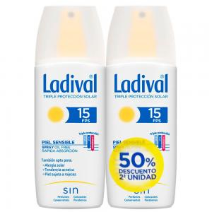 Duplo Ladival Spray SPF15 Pieles Sensibles o Alérgicas 2x150ml