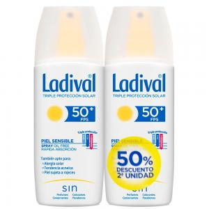 Duplo Ladival Spray SPF50+ Pieles Sensibles o Alérgicas 2x150ml