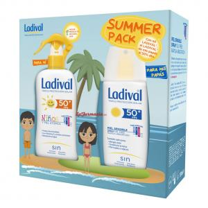 Ladival Summer Pack Pieles Sensibles o Alérgicas: Niños Spray SPF50 200ml + Adultos Spray SPF50 150ml