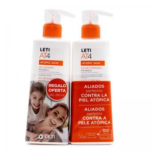 Leti AT4 Leche Corporal 250ml + Leti AT4 Gel Dermograso 250ml de Regalo