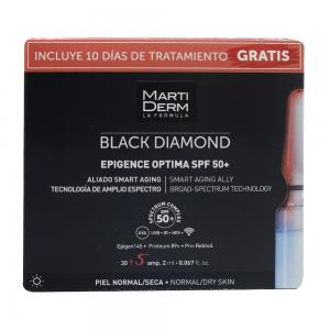 Martiderm Black Diamond Epigence Optima SPF50+ Piel Normal y Seca 30 ampollas + 5 ampollas Gratis