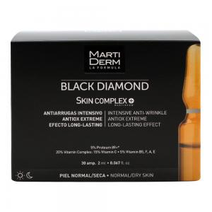 MartiDerm Black Diamond Skin Complex Antiarrugas Intenso Piel Normal y Seca 30 ampollas