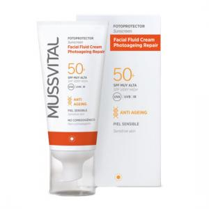 Mussvital Facial Fluid Cream FPS 50+50ml