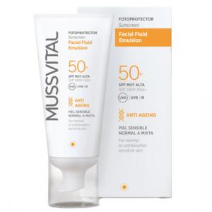 Mussvital Facial Fluid FPS 50+ 50ml Fotoprotector