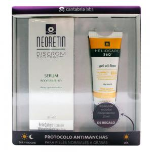 Pack Neoretin Discrom Control Sérum Booster Fluid 30ml + Regalo Heliocare Gel Oil-free SPF50 25ml