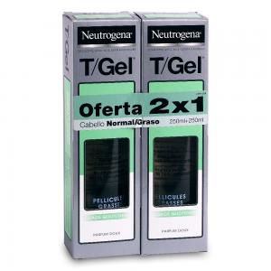 Duplo Neutrogena Champú T/Gel Cabello Normal/Graso 2x250ml