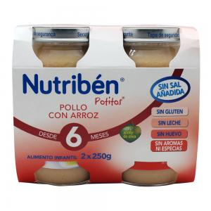 Nutribén Potitos Pack Pollo con Arroz 2x250g