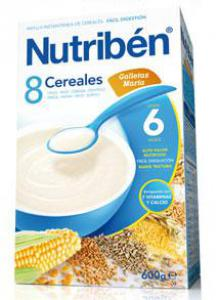 Nutribén 8 Cereales con Galleta Maria 600g.