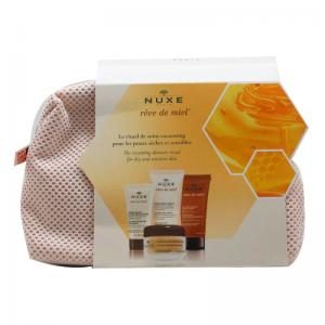 Nuxe Reve de Miel Kit Descubrimiento (Crema Rostro 15ml + Gel Desmaquillante 30ml + Crema de Manos 30ml + Exfoliante 30ml)