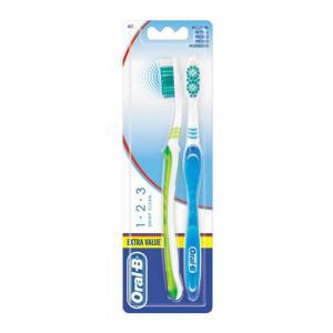 Oral B 123 Shiny Clean Medio 2 Cepillos