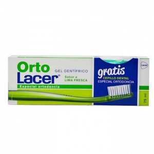 Ortolacer Gel Dentífrico 75ml + Cepillo Dental de Regalo