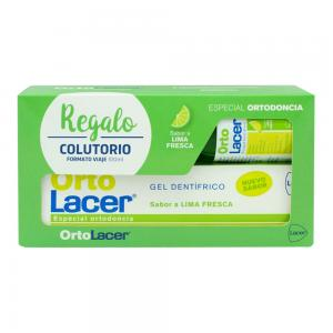 Ortolacer pack Gel Dentifrico sabor lima 75ml + colutorio 100ml