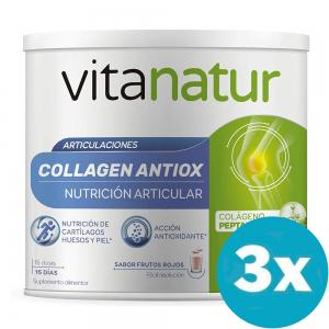 Pack 3 unidades de Vitanatur Collagen Antiox Plus 180gr