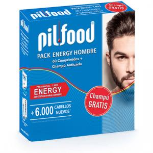 Pilfood Pack Energy 60 Cápsulas + Champú Anticaída 200ml Regalo