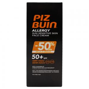 Piz Buin Allergy Crema Solar Facial Piel sensible SPF50 50ml