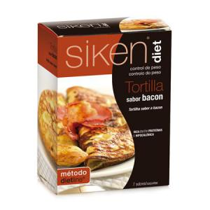 Siken Diet Tortilla Sabor Bacon 7 Sobres