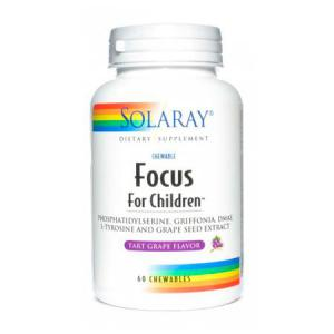 Solaray Focus for Children 60 comprimidos masticables sabor bayas